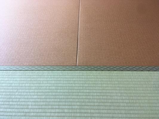 ヘリ無畳新調・琉球畳・ダイケン和紙畳表、胡桃色の画像