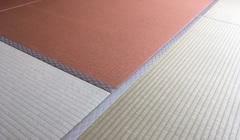 ヘリ無畳新調・琉球畳・ダイケン和紙畳表、胡桃色のサムネイル画像